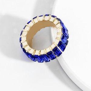 Sapphire gemstone eternity ring size 10